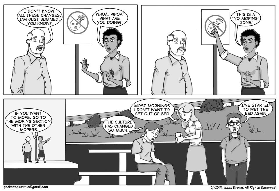 Geek Speaking of the Moping Zone
